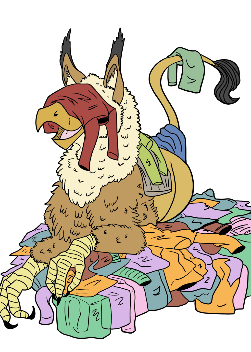 Lucy the Gryphon Loves Sweaters