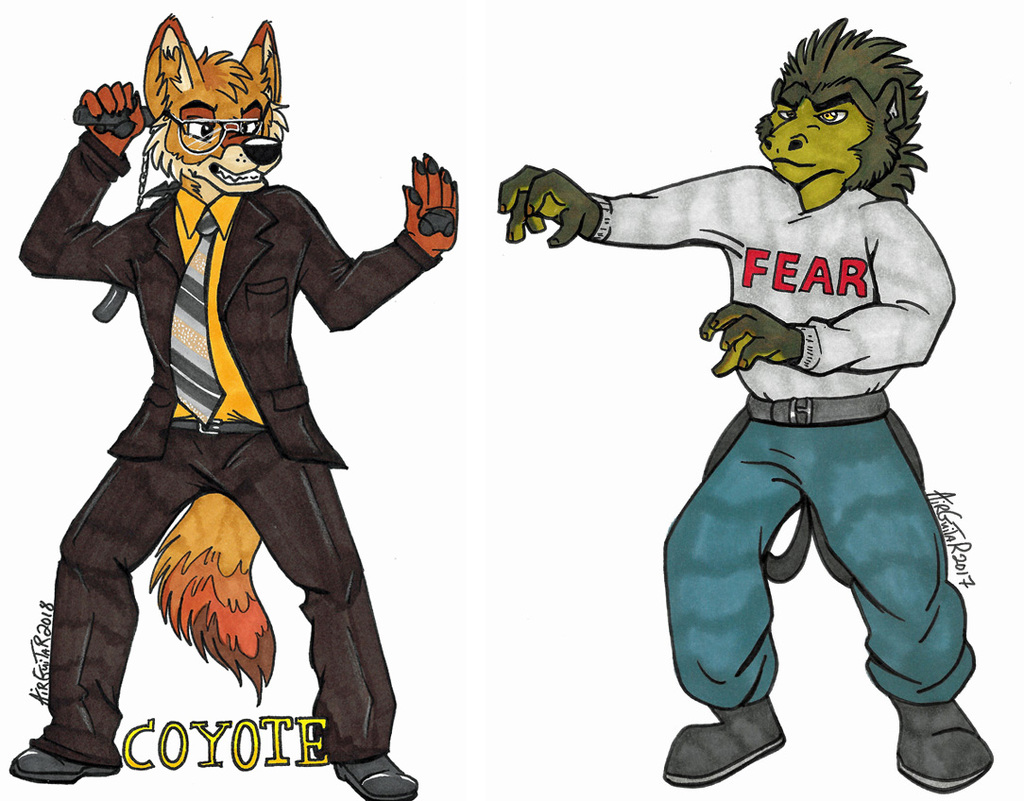 "Fullbody Badges - Coyote Schrute and ""Mose"""