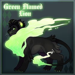 Green Flamed Lion [Design]