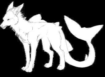 Free lineart : Wolfshark
