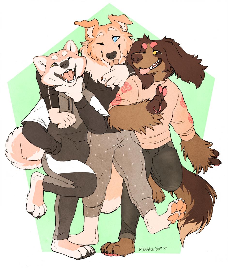 3 cute pups!