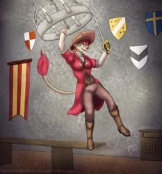 En Garde! To the chandelier!