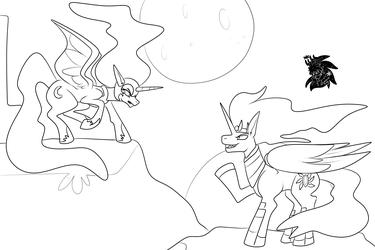 Nightmare Moon vs Event Horizon +Commission WIP+