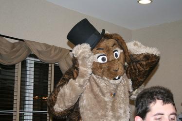 A bunny stole Akali's hat! (NYE '08)