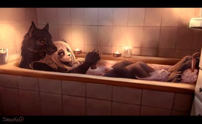 Valentines bath <3
