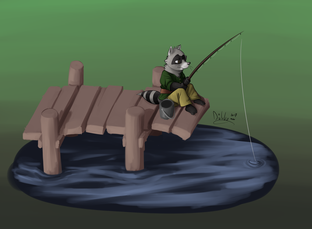 Fishing by the Dock