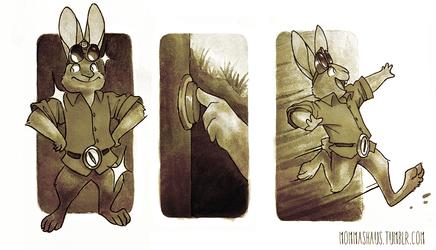 Clean Bunny, Go Get the door!
