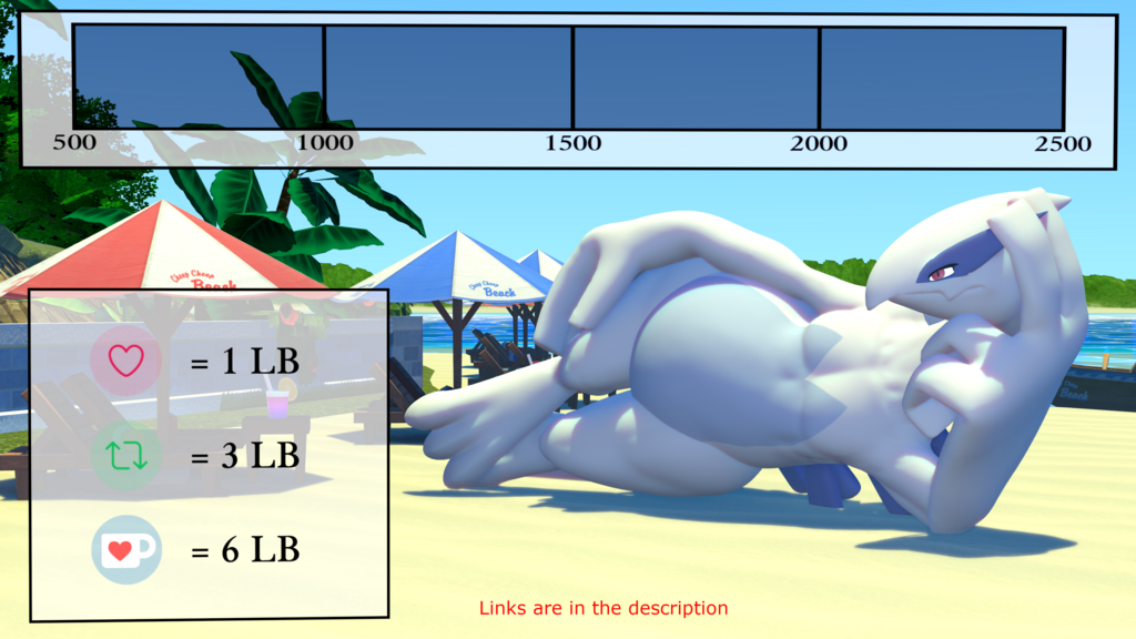 Most recent image: Lugia Weight Gain Drive part 1 (not animated)