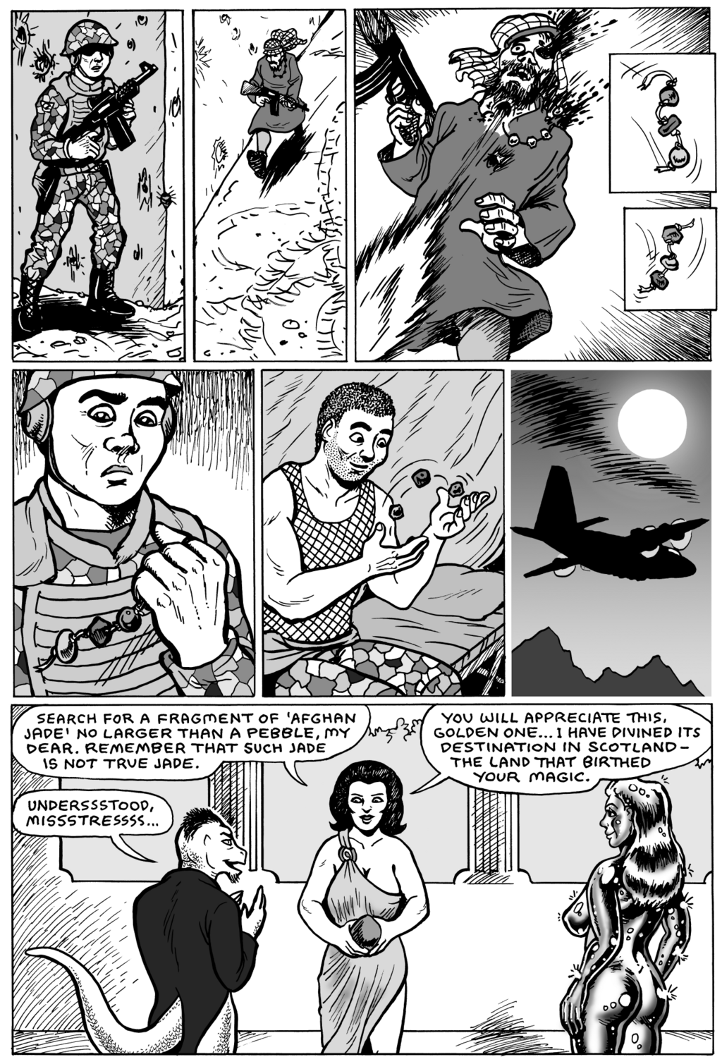 Komos & Goldie comic by Karno, page 8