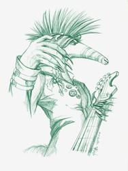 :Commission: Omari frenzy sketch