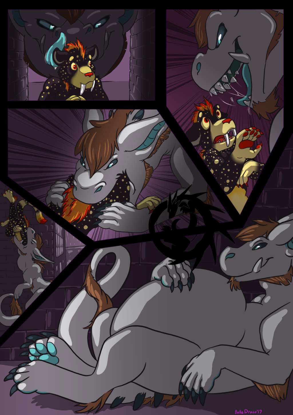 """Finished YCH """"The Wrong Dark Alley"""""""
