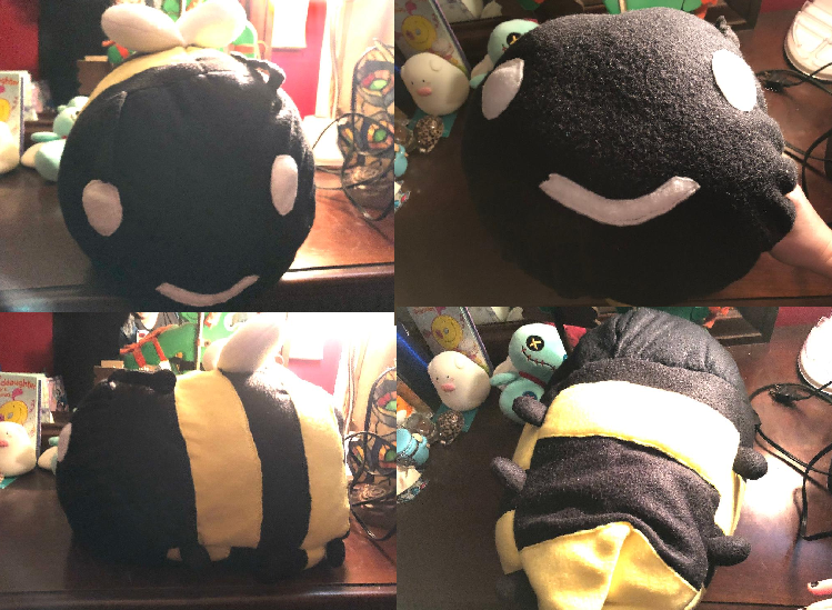 Large Bumblebee Stacking Plush Commission