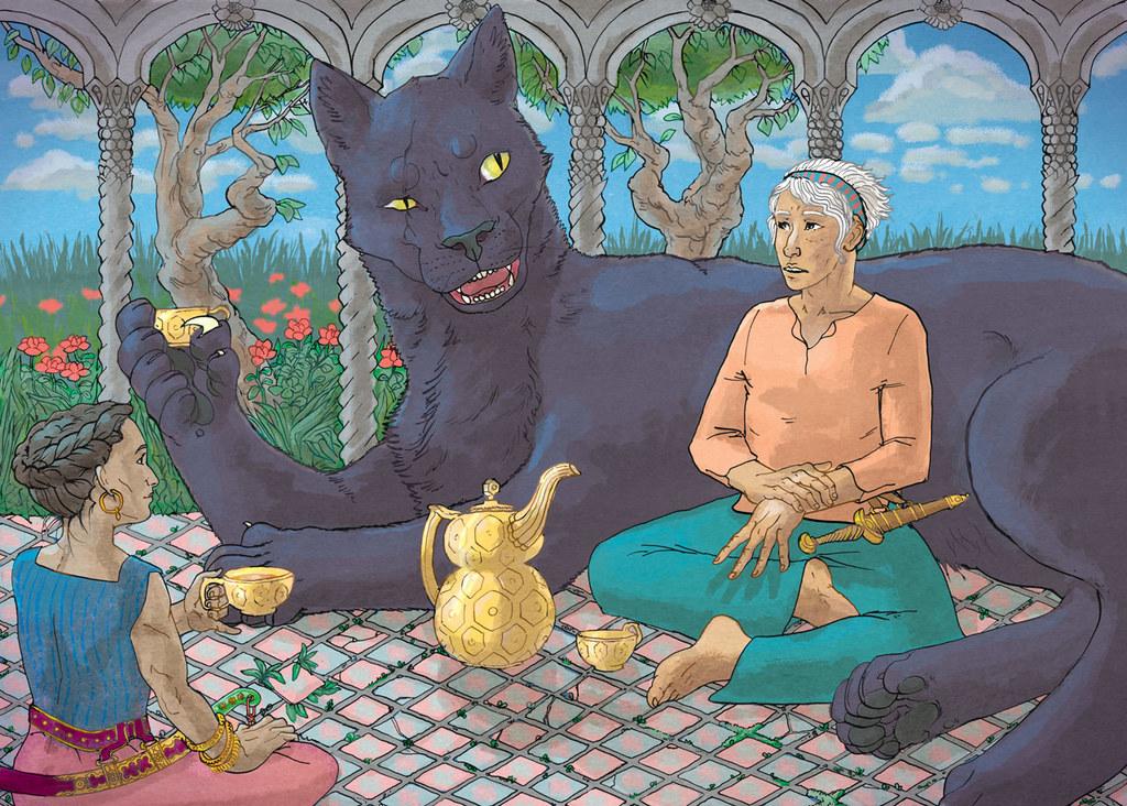 Conversation in the Old Tea Garden