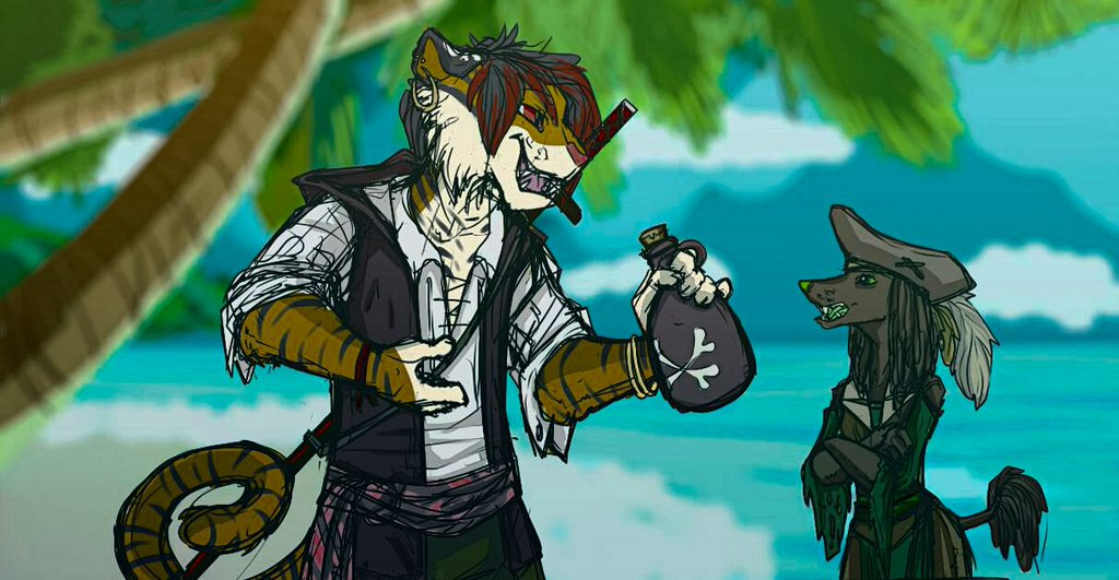 Yarr! Care for some rum lass?