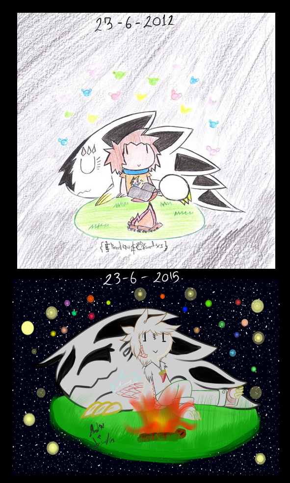 long time ago...-before and after-
