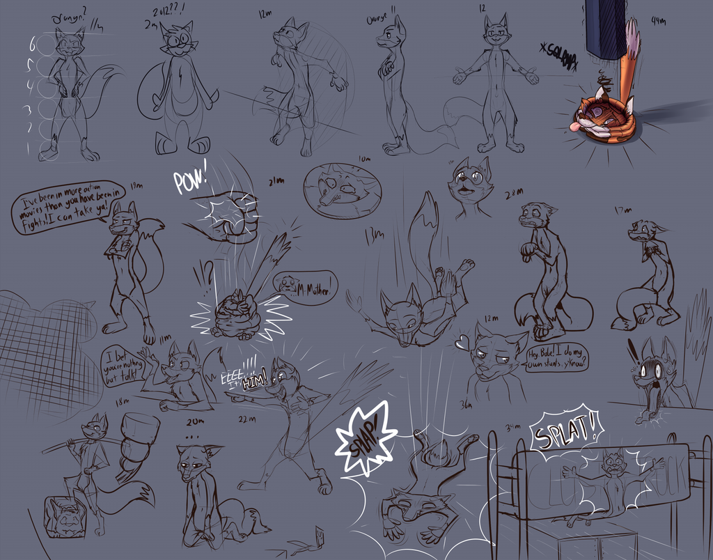 Toony Style Experimentation - Foxes