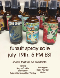 !CHANGED TIME! Fursuit Spray Sale - Sunday July 19th