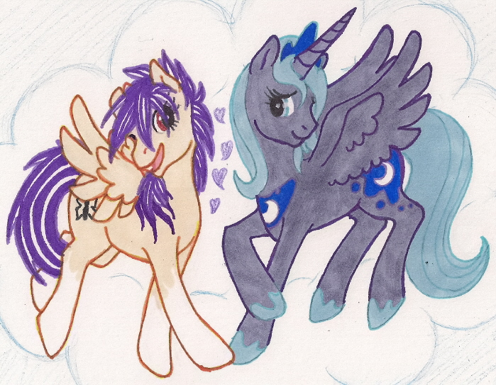 Aurafluff and Princess Luna