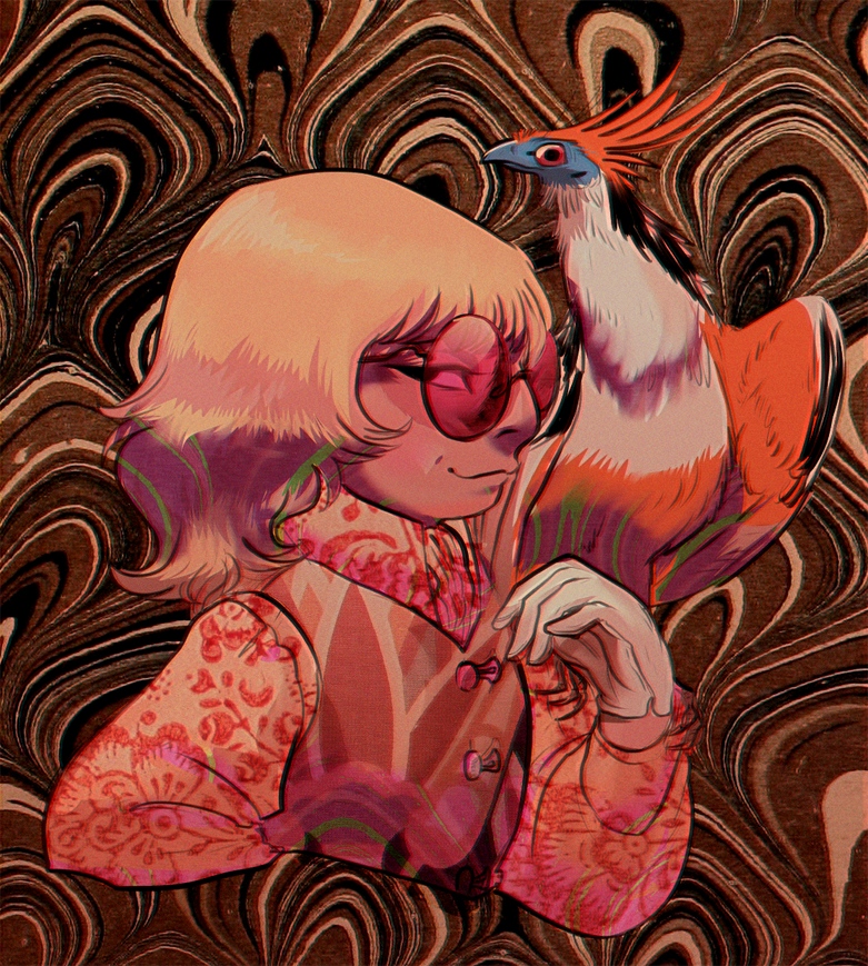 Mockingbird and a hoatzin