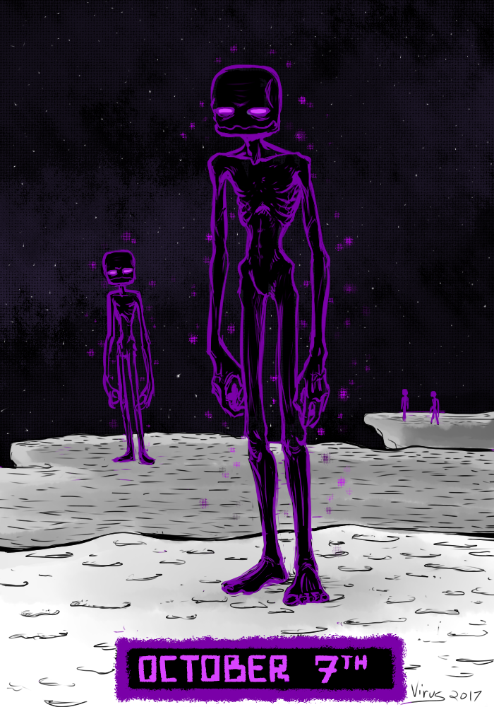 Most recent image: Inktober - Enderman
