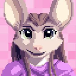 Celine Pixel Portrait