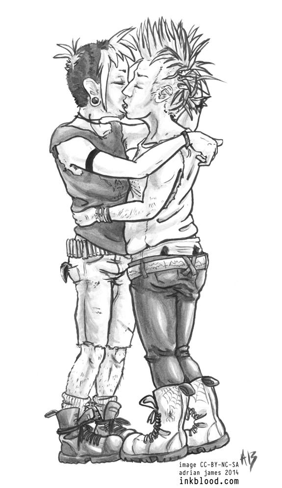 PUNK BOYS KISSING