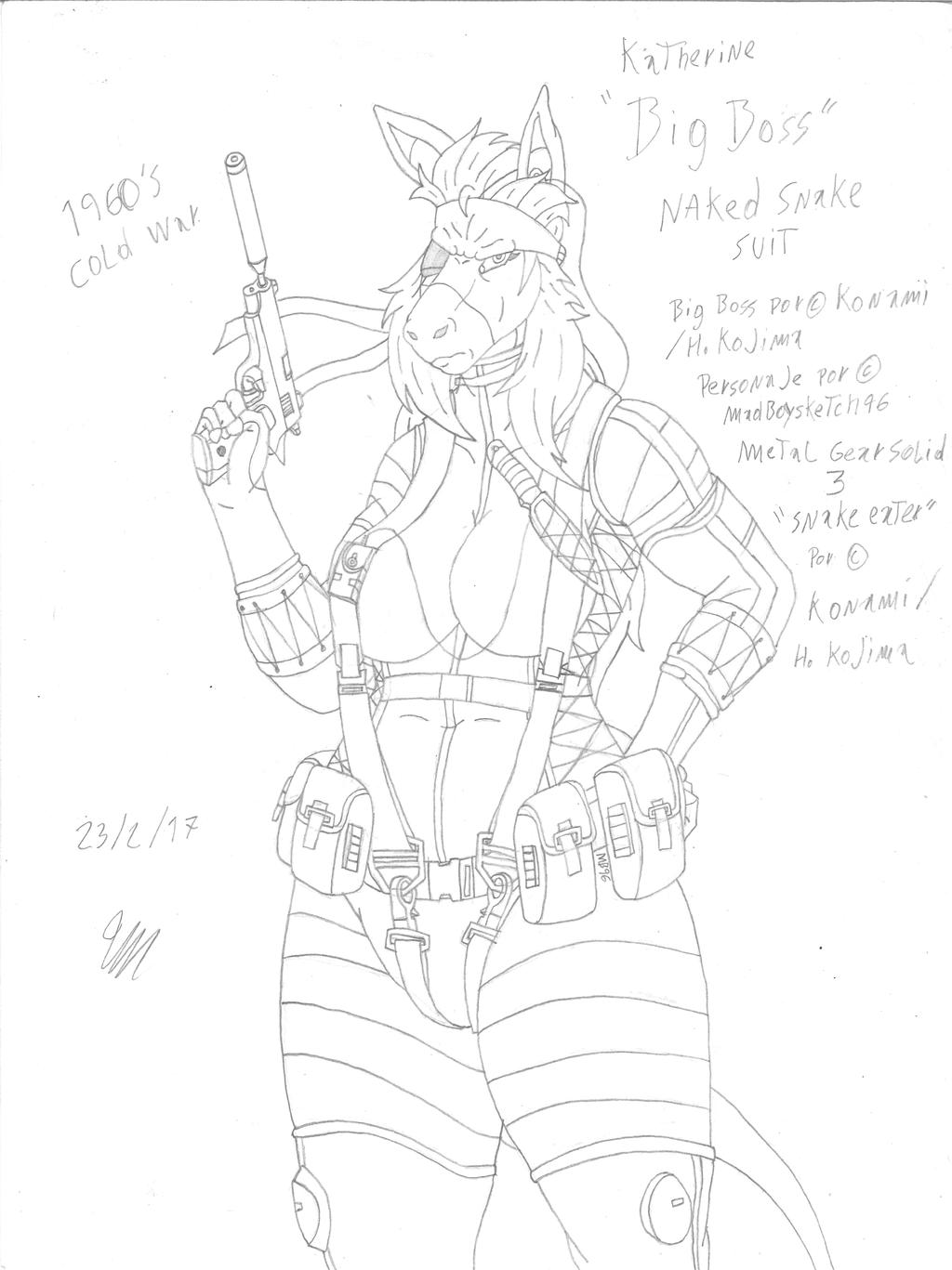Big Boss Katherine - Original sketch