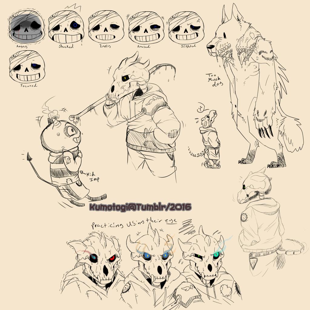 Forget Me Nots (Undertale AU) Doodles
