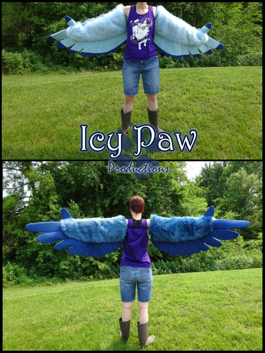 Most recent image: Denim/baby blue arm wings
