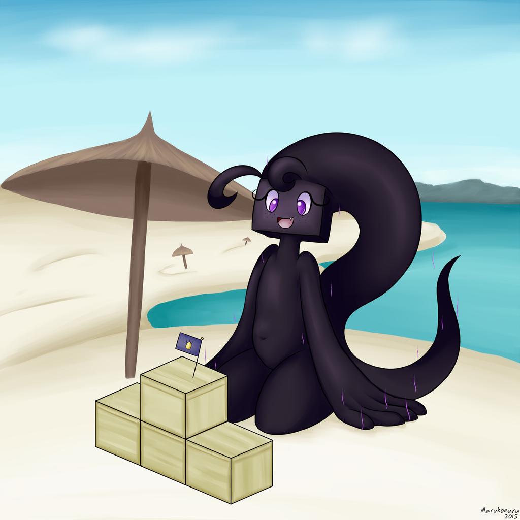 Enderman on the Beach