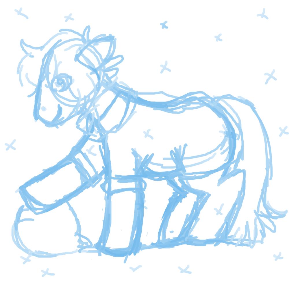 pones surprisingly easy to draw