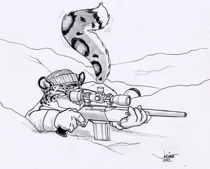 Felines make lousy snipers