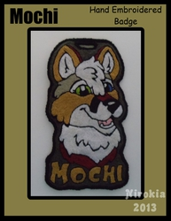 Hand Embroidered Badge - Mochi