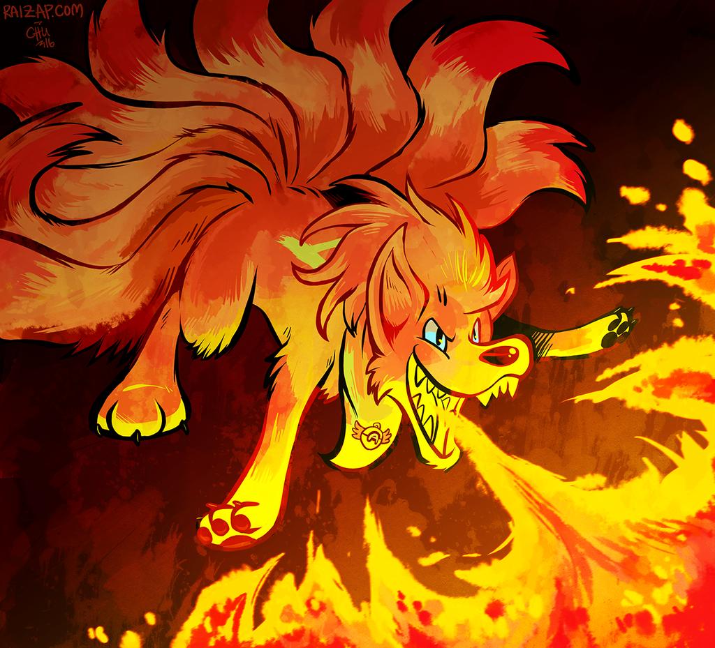 A-Nintetales used Flamethrower