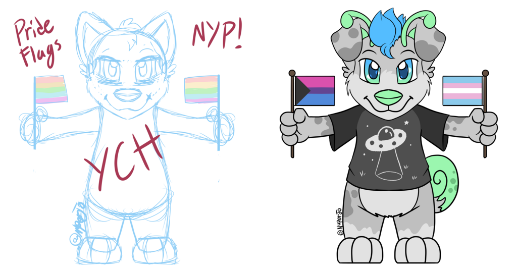 NYP Chibi Pride Flag Commissions (10/10 Open)