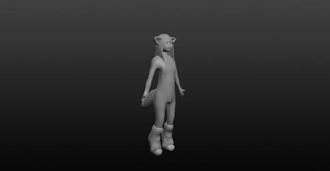 Fox Femboy 3D Model wip