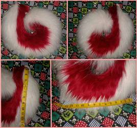 Red and Sparkle White Tail