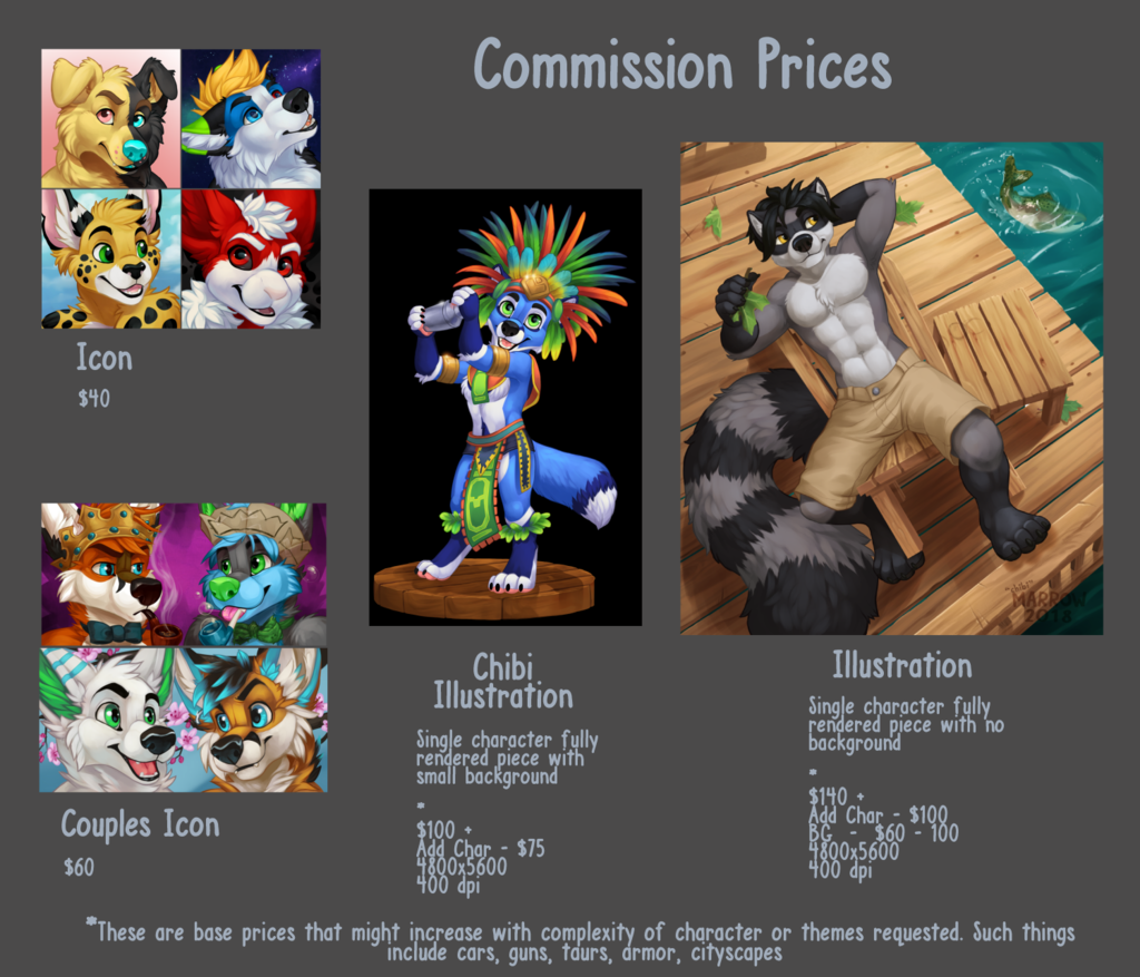 Most recent image: Commission Prices