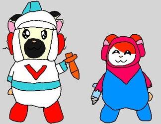 Hamtaro and Boss as Mr. Driller and Dig Dug