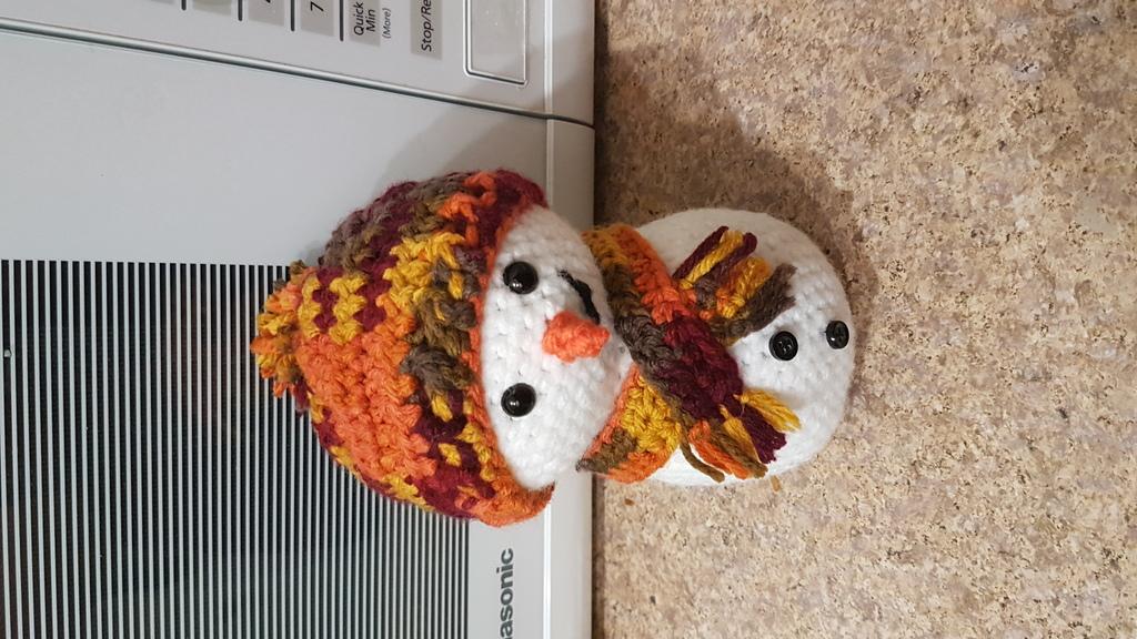 Most recent image: Crochet snowman