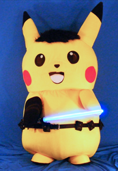 Ace Spade the Pikachu (Mascot Suit) with his Lightsaber