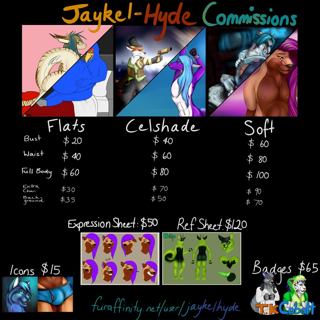 JaykelHyde Pricesheet 2015