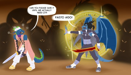 [Commission by ZeusSunSpot]..Overzealous White Knight..