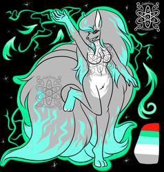 Fire/Electric Shiny Female Ninetails +Design+ (SOLD)
