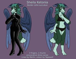 Sheila Ketonia, concept art, reference