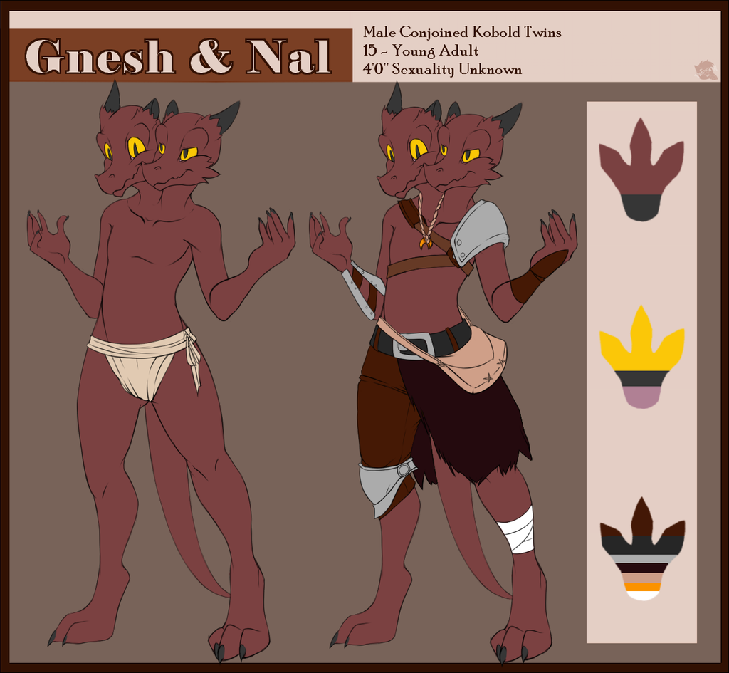Most recent image: Gnesh and Nal Ref Sheet
