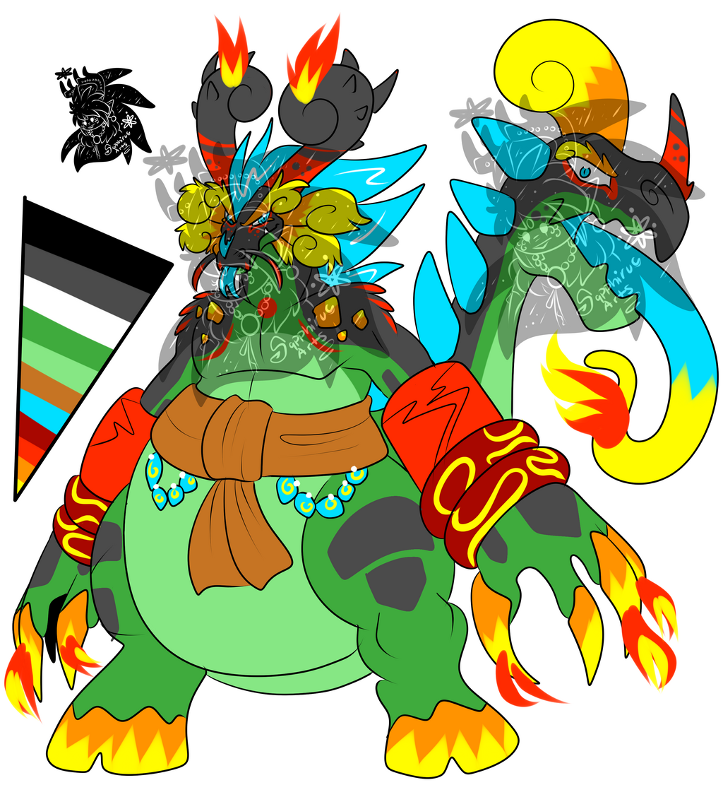 Most recent image: Male Fire Glutton Beast +Design 4 Sale+