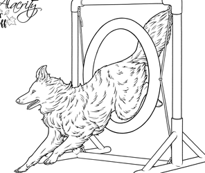 Alacrity Colouring Page