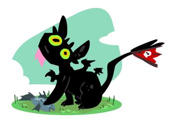 Toothless Kitty