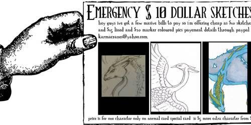 Emergency $10 sketches